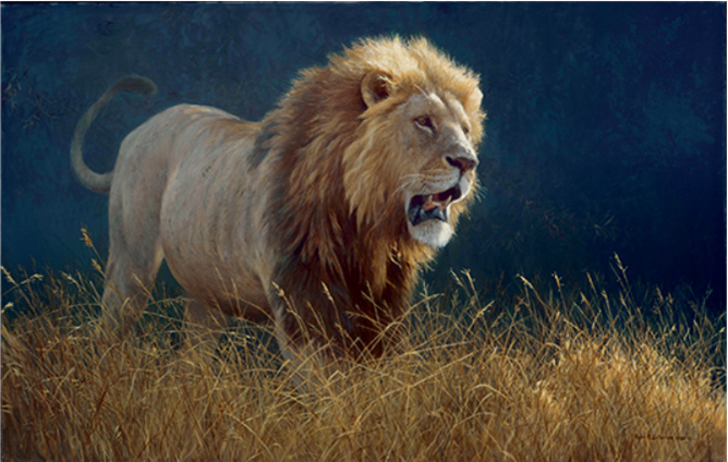 Robert Bateman's Into the Light - Lion