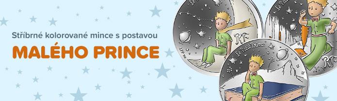 Stříbrné mince Malý princ
