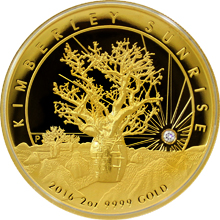 Zlatá mince 2 Oz Kimberley Sunrise High Relief 2016 Proof