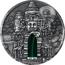 Stříbrná mince 1 Kg Angkor Wat Ultra high relief 2016 Antique Standard