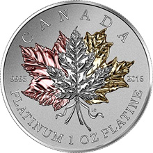 Platinová mince Maple Leaf Forever 1 Oz 2016 Proof