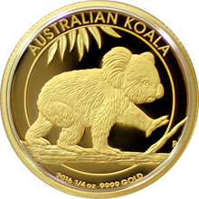 Zlatá mince Koala High Relief 1/4 Oz 2016 Proof
