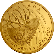 Zlatá mince Elk 1 Oz 2017 Proof (.99999)