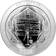 Stříbrná investiční mince America the Beautiful - Nebraska 5 Oz 2015