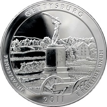 Stříbrná investiční mince America the Beautiful - Pennsylvania 5 Oz 2011