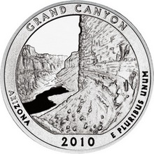 Stříbrná investiční mince America the Beautiful - Arizona 5 Oz 2010