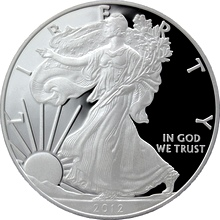 Stříbrná mince 1 Oz American Eagle 2012 Proof