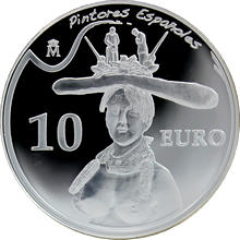 Stříbrná mince Salvador Dalí Bust of a woman 2009 Proof