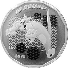 "Stříbrná mince Looney Tunes: ""Suffering Succotash!"" 2015 Proof (.9999)"