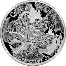 Stříbrná mince Maple Leaf 25. výročí 1 Oz 2013 High Relief Piedfort Proof (.9999)
