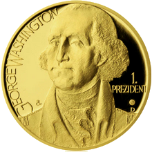 Zlatá uncová medaile George Washington 2012 Proof