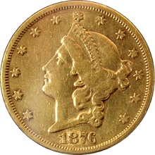 Zlatá mince American Double Eagle Liberty Head 1876