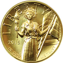 Zlatá mince American Liberty 1 Oz 2015 High Relief Standard