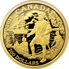 Zlatá mince Jacques Cartier 2013 Proof