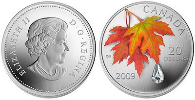 2009_maple_leaf_crystal silver coin