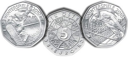 Austrian-5-Euro-Snow-Boarding-Ski-Jumping-2010-Winter-Games-Silver-Coins