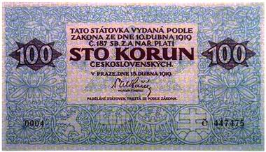 Prvá československá mena