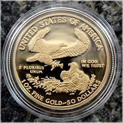 Gold American eagle set 2000