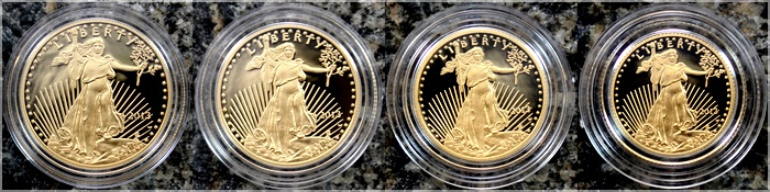 american gold eagle 2013 sada zlatych minci proof