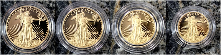 american gold eagle 2014 sada zlatych minci proof