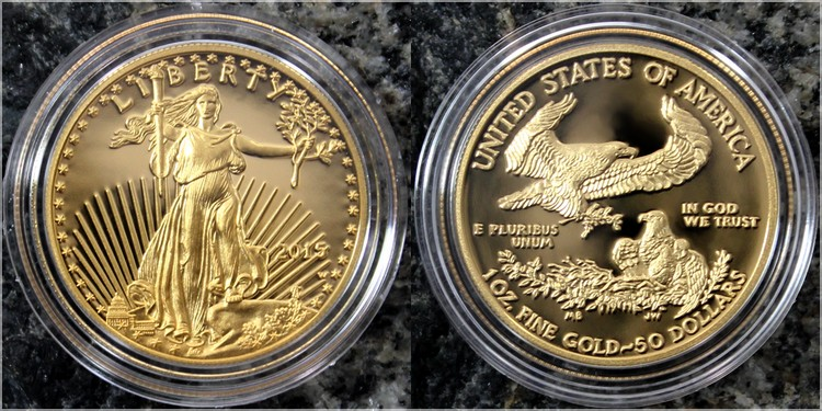 american gold eagle 2015 sada zlatych minci proof