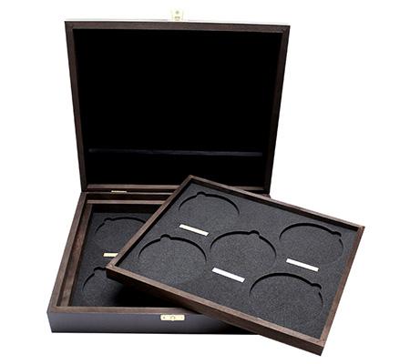 Drevená krabička pre 10 x 10 Oz Ag mince série The Queen's Beasts