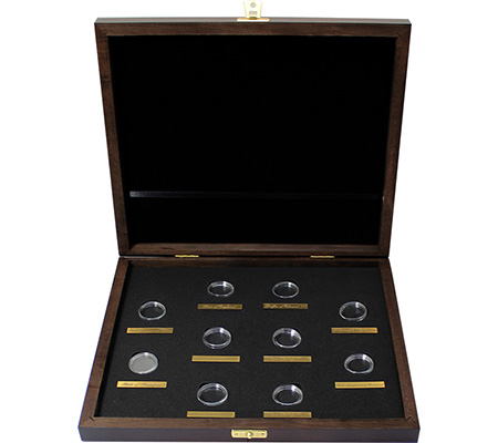Drevená krabička pre 10 x 1/4 Oz Au mince série The Queen's Beasts