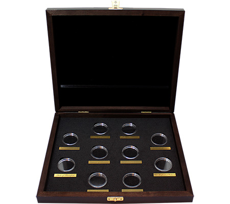 Drevená krabička pre 10 x 1 Oz Au mince série The Queen's Beasts