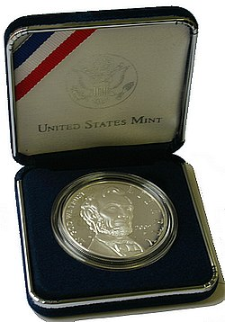 2009 Abraham Lincoln Proof Stříbrná mince