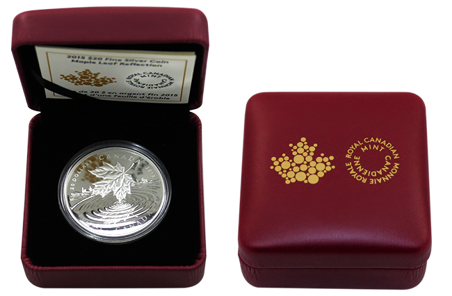 Stříbrná mince Maple Leaf Reflection 1 Oz 2015 Proof (.9999