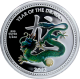 Stříbrná mince kolorovaný Year of the Dragon Rok Draka 2012 Niue Proof